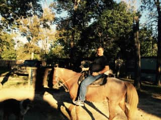 Alan enjoys horseback riding