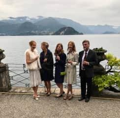 Greer family at Emma's wedding - Lake Como
