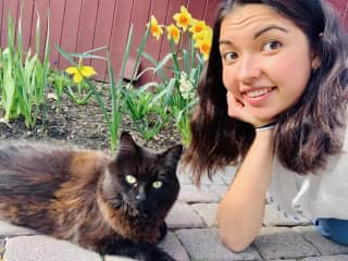 Me and Gazelle, my family's nine year-old cat