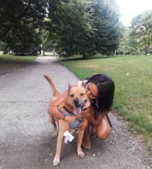 Gina and handsome Bodie bear (Chicago, USA: July-18)