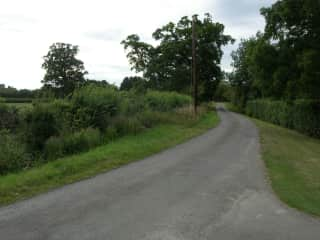 The view from the front gate - a mile walk into town