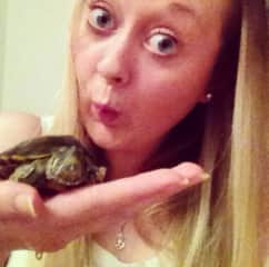 Rebecca - looking after a friend's turtle for a few weeks