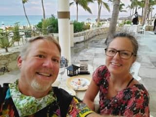 Mike & Kate at Dreams Cabo, 2020.