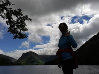 Here I am enjoying the most beautiful walk around Lake Buttermere.