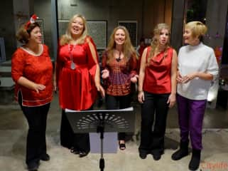 Me with my vocal ensemble at Christmas concert December 2019