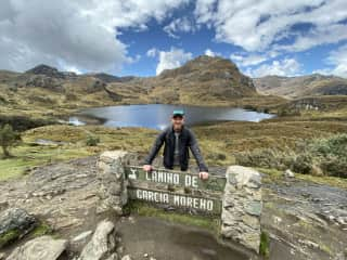 Doing some hiking at 14,000 ft outside of Cuenca, Ecuador.