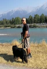 Jeff and Lovely Lizzie in Canmore