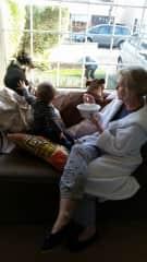 Lynn, Ollie (grandson), Molly and Pepper