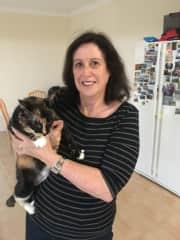 Christine with Smokey( Sonny's sister)