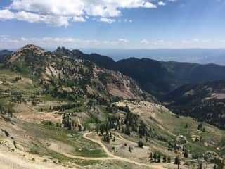 Hiking at Snowbird Resort