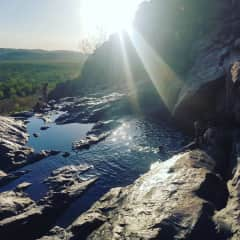 Located in Kakadu, about a 3 hour drive away. There are so many beautiful gems around an Di would be happy to give you a list of recommendations!