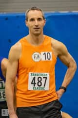 Rory Perron - pre-race - masters mile track race January 2020.