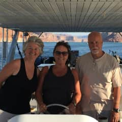 Me and friends house boating on Mojave Lake