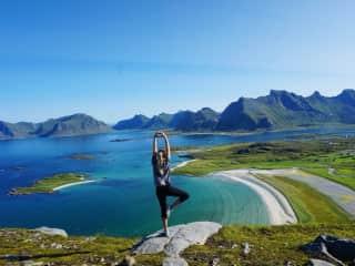 Hiking in Lofoten Islands, Norway
