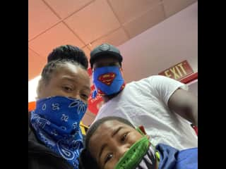 Family photo op at Chuck E Cheese!