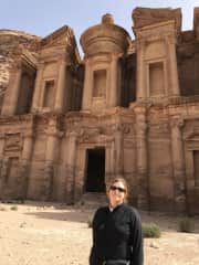 Tanya getting to one of her bucket list places- Petra, Jordan