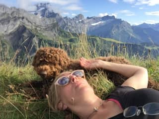 Hiking (with Poppy in the Alps, aka her backyard, lucky dog)