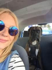 Me and Jasmine - a friend's dog