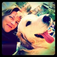 Elke and my dog Cesar