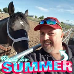 Me and my brother's horse in Idaho