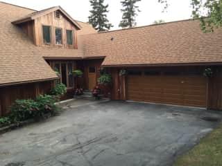 Front door & driveway