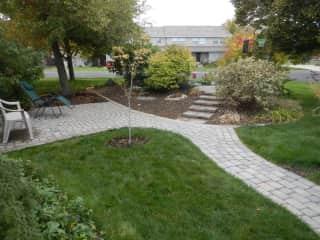Patio and bird garden