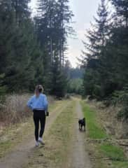 Nothing better than our weekly walks in the woods.