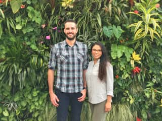 Us at the incredible San Francisco Flower Conservatory.