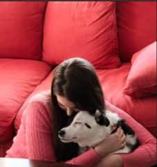 With my dog, Sam