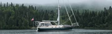 Our sailboat - Canadian shore, Lake Superior