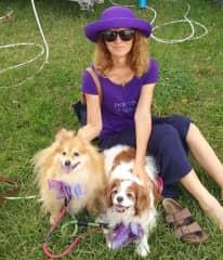 With Chloe and Honey at the Jacaranda Festival in Grafton Nov 2018