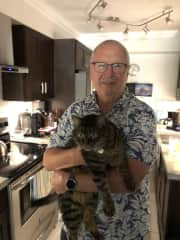 Kitsilano with handsome Bruce in September 2020