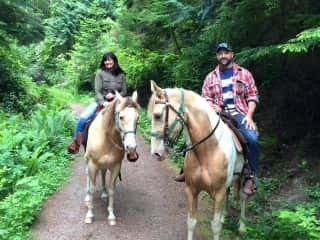 A favourite pastime of ours, horseback riding. 2016 WASHINGTON STATE / USA