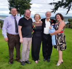 Our dear family on our 40th anniversary.
