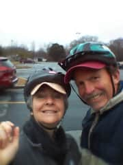 Victoria and Jack ready to bike the Swamp Rabbit Trail.