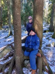 We like the outdoors. Last winter (2020) me and my son.
