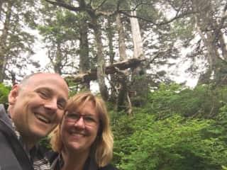 David & Kelly visiting Juneau, Alaska