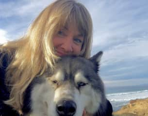 me with a wonderful huskie