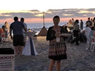 Beautiful San Diego, near Coronado Island. Sunset beach party!