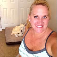 Me with our dog Calista