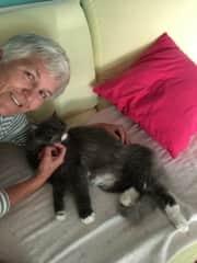 Marlene loving Stoli in Spain