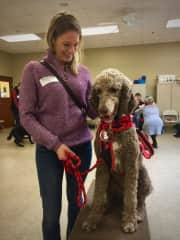Steph and Buddy at Assistance Dog Graduation