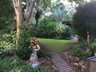 Path up to writing shed