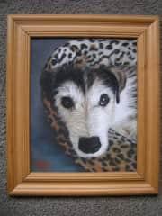 Pastel painting of Sam