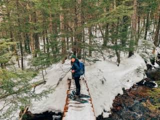 Snow shoeing in Nova Scotia this winter