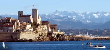 Antibes between Nice and Cannes