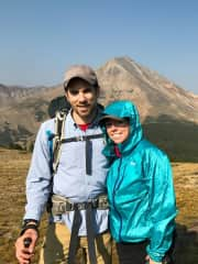 My boyfriend and myself backpacking in Colorado.