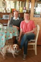 Anna, Michael and our dog Clover