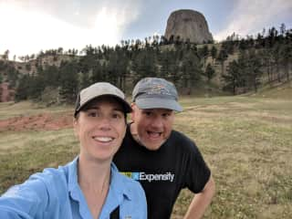 Hillary and Bryan at Devil's Tower