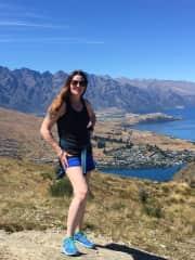 Ashley hiking in Queenstown, NZ